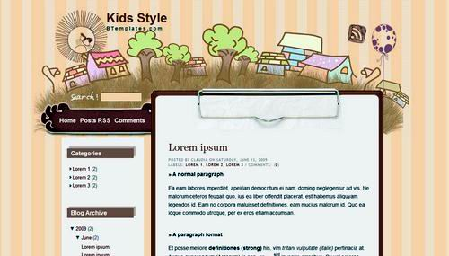 cute-blogspot-template-kids-style
