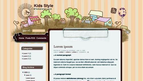 cute-blogspot-template-kids-style