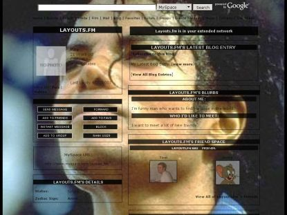 michael jackson myspace layouts