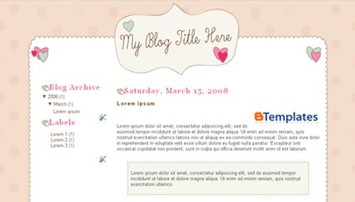 Pink Blogger Templates quirkyvalentine
