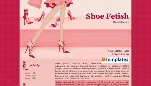shoefetish Pink Blogger Templates