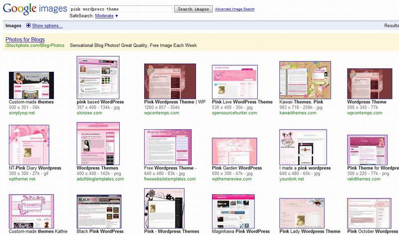 pink wordpress themes image