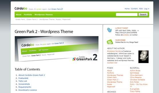 wordpress  twitter theme -2