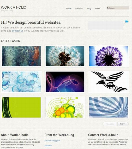 workholic wordpress magazine theme picture