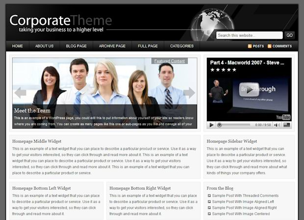 Corporate WordPress Theme free image