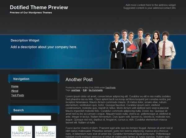 black wordpress business_theme