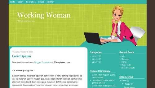 blogspot 3 Columns templates Working-Woman