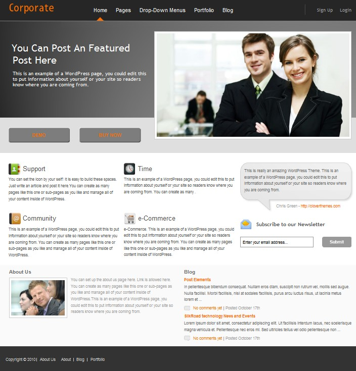 business wordpress theme corporate