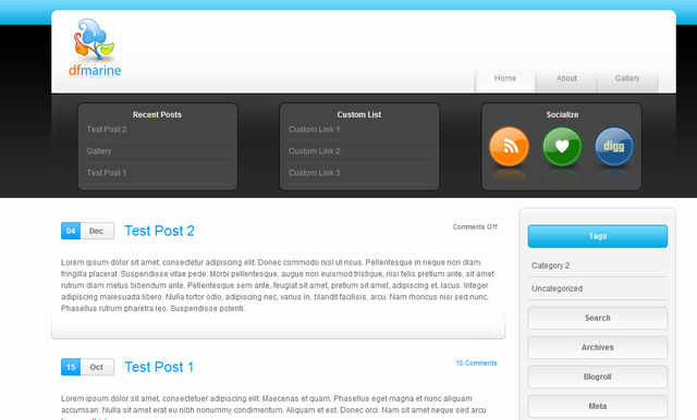 Free coporate wordpress theme marine for corporate