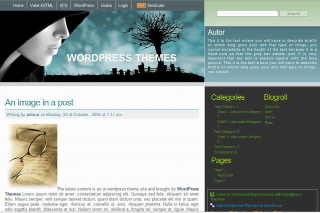 free 3 cloumn wordpress business themes
