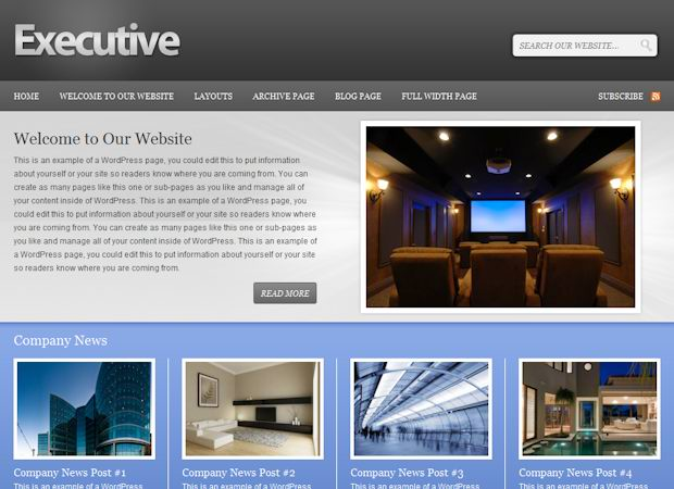 Professional WordPress Theme for Corporates:Executive