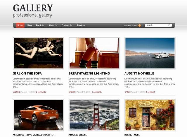 gallery wordpress theme