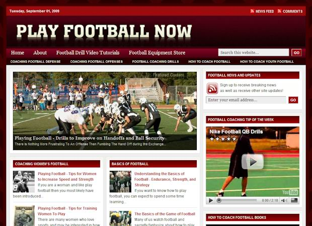 playfootball wordpress Church Theme
