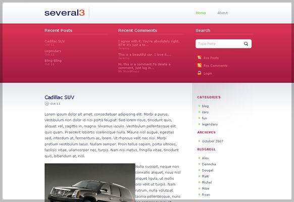several3 corporate wordpress theme