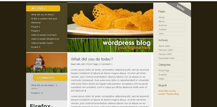 simple clean 3 cloumn wordpress-theme