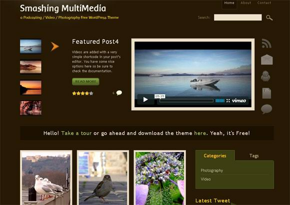 4 Cool Wordpress Templates for Photography - Dobeweb
