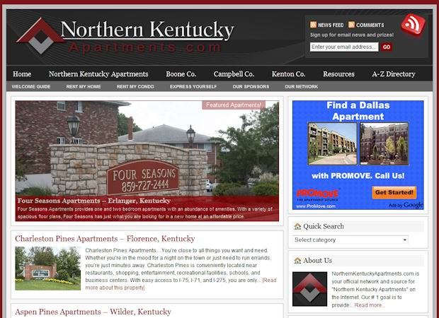 wordpress Real Estate template nokentucky