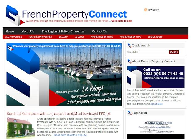 wordpress Real Estate templates frenchproperty