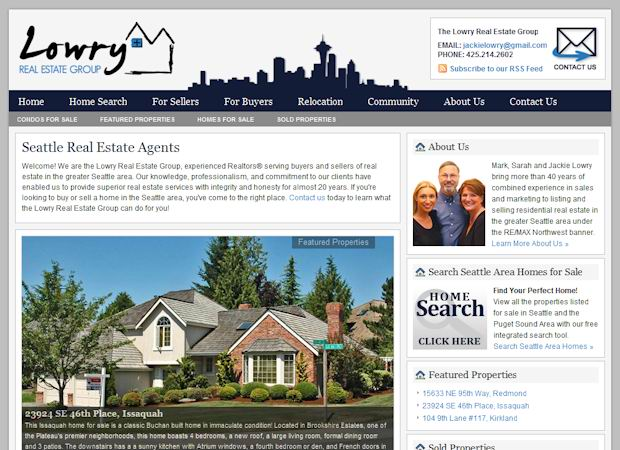 wordpress Real Estate theme lowry