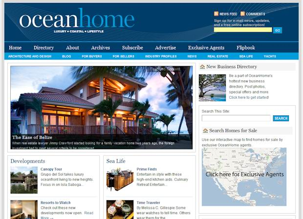 wordpress Real Estate themes oceanhome