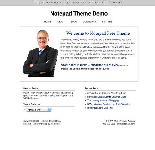 wordpress cms business theme