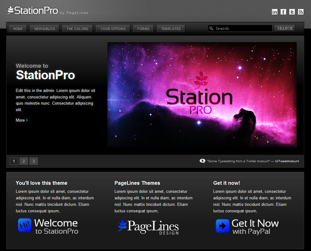 StationPro is a pro WordPress theme with full CMS capability. It's ...