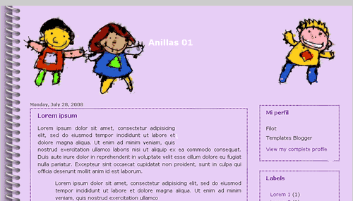 Anillas 01 – Blogger Template