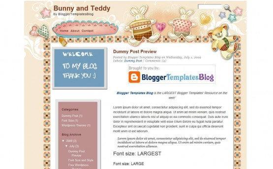 10+ Free Cute Kids Blogger Templates – Dobeweb