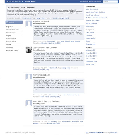 facebook-addict-wordpress-theme