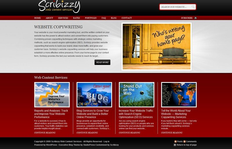 Sample Website That Use Studiopress Executive Theme Dobeweb