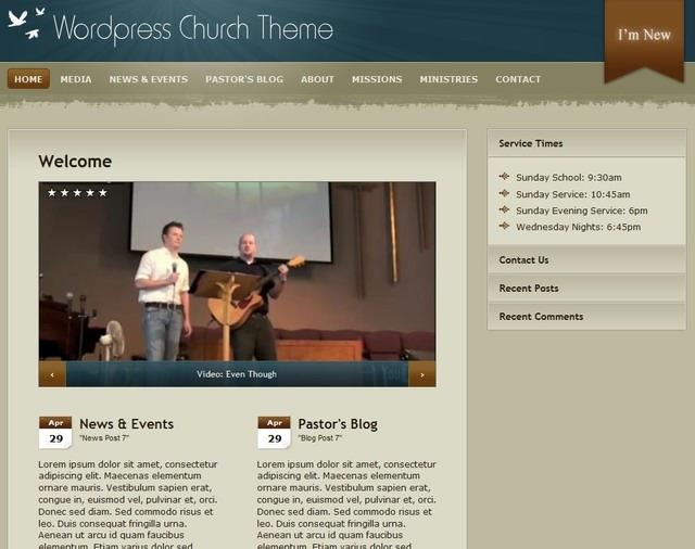 church wordpress tempalte