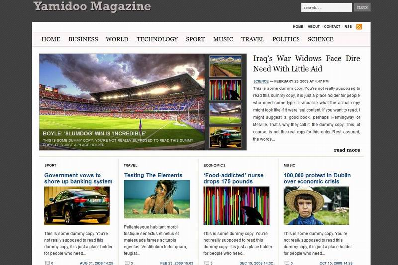 cool wordpress magazine theme yamidoo
