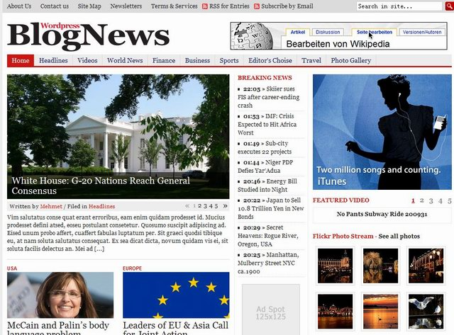 gabfirethemes blognews newspaper template
