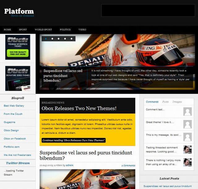 obox-design wordpress news theme