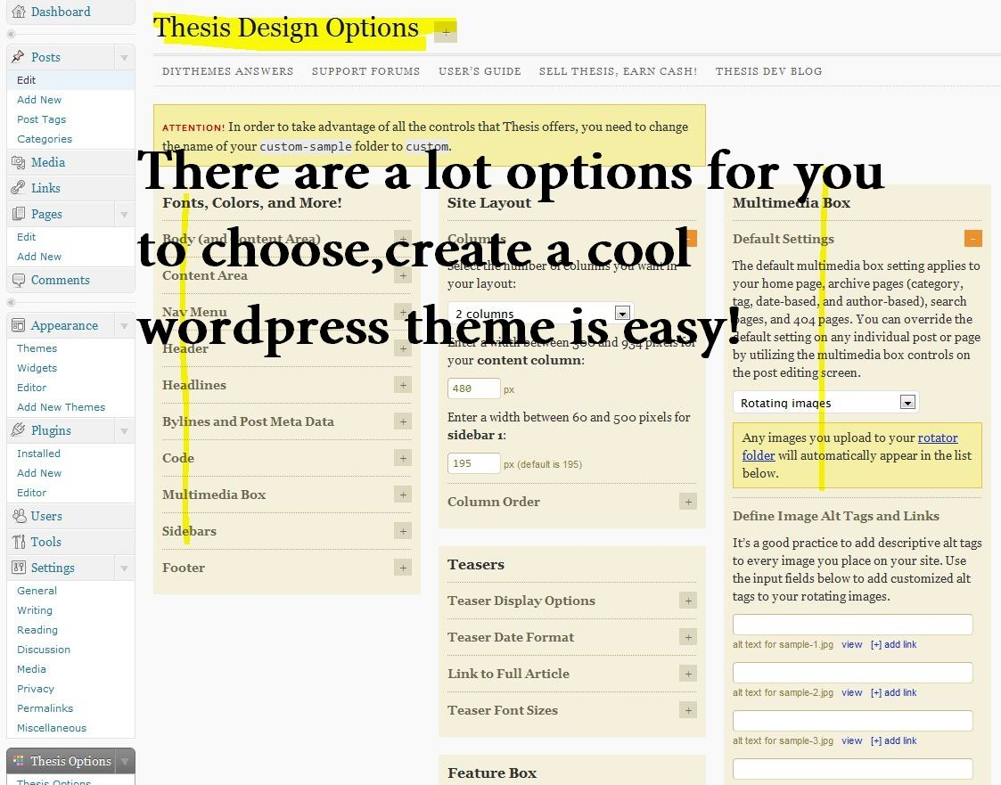 thesis theme seo plugins