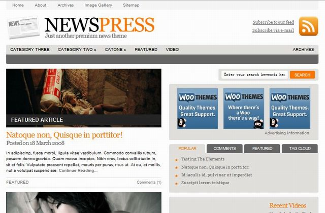 wootheme newspaper templates
