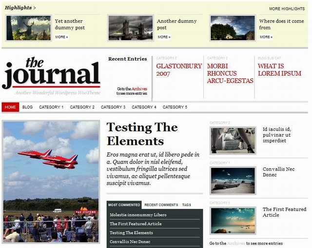 wordpress news themes The Journal