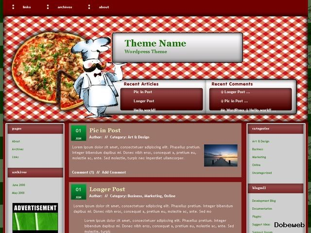 Restaurants WordPress Theme for FREE