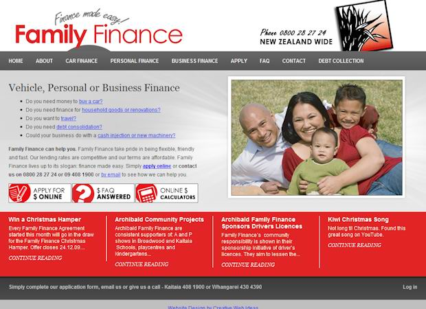 cms wordpress template Family Finance