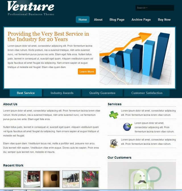 corporate cms wordpress theme