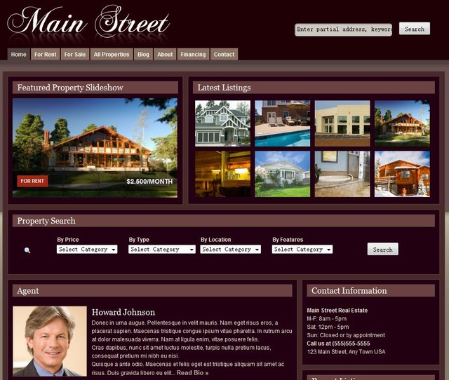 real estate agnet wordpress theme
