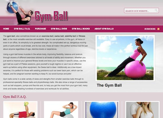 small business wordpress theme Gym Ball