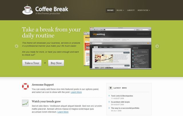 2010 company wordpress cms theme