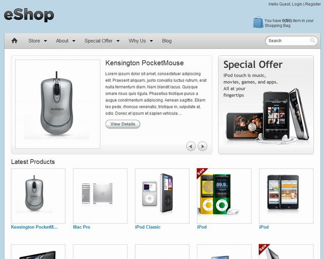 wordpress ecommerce theme eshop