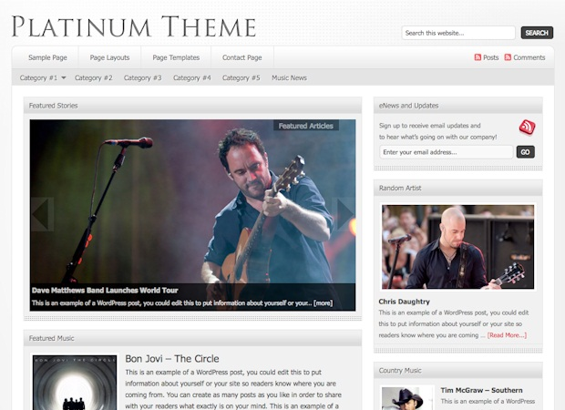 platinum magazine wordpress theme
