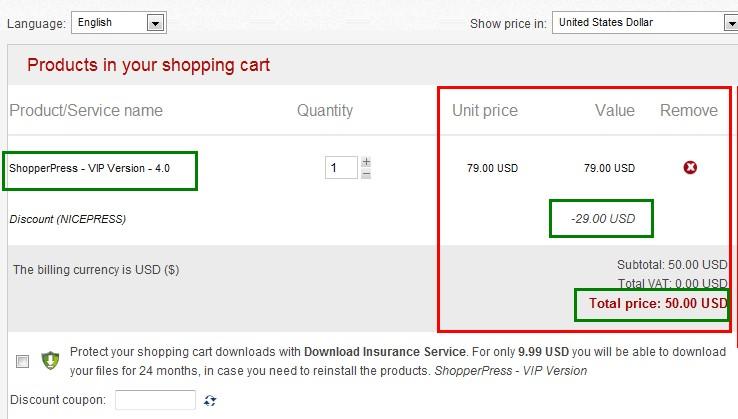 shopperpress discount coupon code