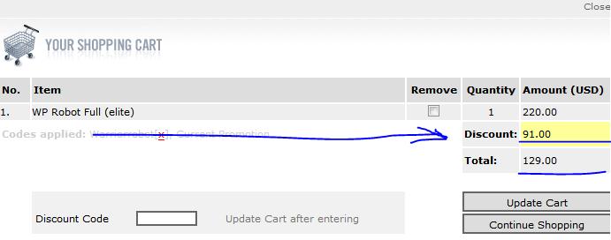 wp robot discount code