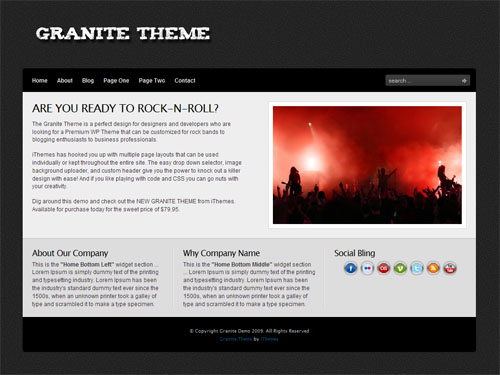 Granite WordPress Theme