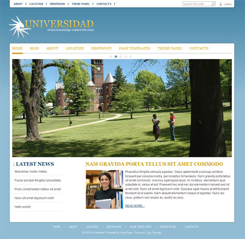 Universidad Premium WordPress Theme