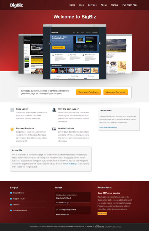 big biz wordpress theme